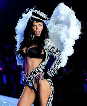 Adriana Lima walks the runway during the 2013 Victoria's Secret Fashion Show