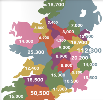The Hungry for Action data shows that besides Donegal, Monaghan and Offaly are especially hard hit.