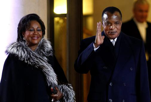 Congo President Denis Sassou-N'Guesso and first lady Antoinette Sassou N'Guesso. Photo: Reuters