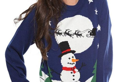 The Zatori Christmas jumper as shown on website clothing.ie