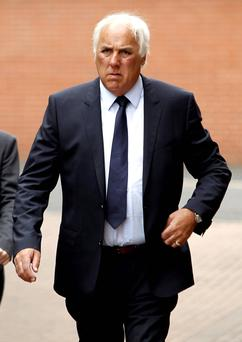 Neville Neville, the father of former Premier League footballers Gary and Phil, who will go on trial today accused of a sex assault. PRESS ASSOCIATION Photo. Issue date: Monday December 16, 2013. Neville, 63, is facing a single charge of sexually penetrating a woman with his finger when she did not consent. See PA story COURTS Neville. Photo credit should read: Peter Byrne/PA Wire