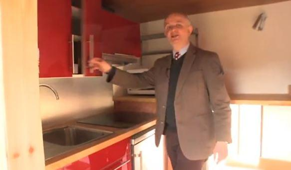 Mr Page, who teaches at the University of Hertfordshire, insisted that a couple could live a ''comfortable modern existence'' in the home. (Photo/YouTube)