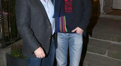 Ryan Tubridy and Noel Kelly at residence for agent, Noel Kelly's xmas party