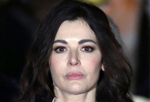 TV cook Nigella Lawson leaving Isleworth Crown Court in west London after giving evidence in the case two of her former personal assistants, Elisabetta and Francesca Grillo last week