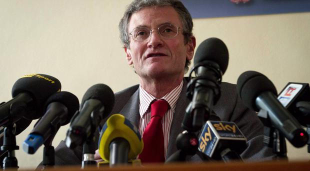 Prosecutor Roberto Di Martino speaks during a news conference in Cremona, Italy.
