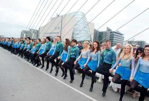 The Gathering for the longest Riverdance, held in Dublin earlier this year. Photo: El Keegan