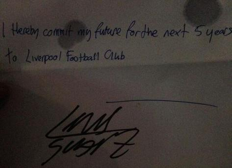 Suarez's 'contract'