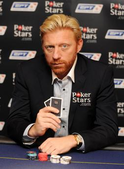 Boris Becker promotes PokerStars.com, a company which was bought by Amaya.