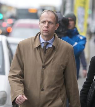 John Bowe leaving the Dublin Criminal Courts of Justice this afternoon. Pic: Mark Condren