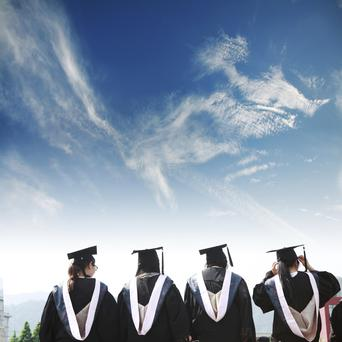 More graduates are going straight into jobs from college. Photo: File