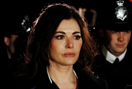 Celebrity chef Nigella Lawson leaves Isleworth Crown Court in west London last week.
