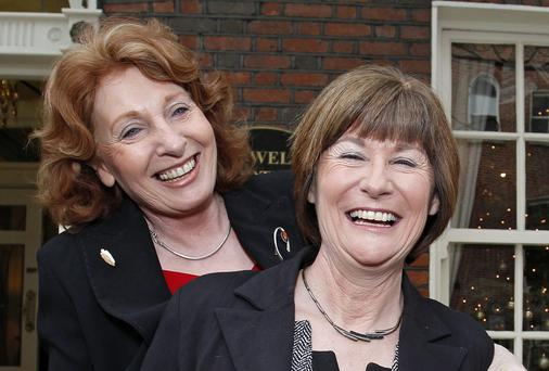 Pictured at the launch of the Samaritans annual impact report were Kathleen Lynch TD (L), Minister of State for Disability, Equality and Mental Health and Catherine Brogan, Executive Director, Samaritans Ireland. Photo: Conor O Mearain