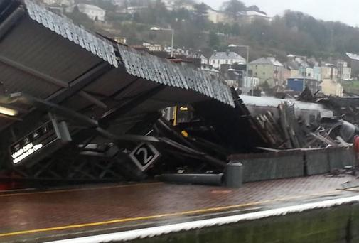 The collapsed roof at Kent Station in Cork