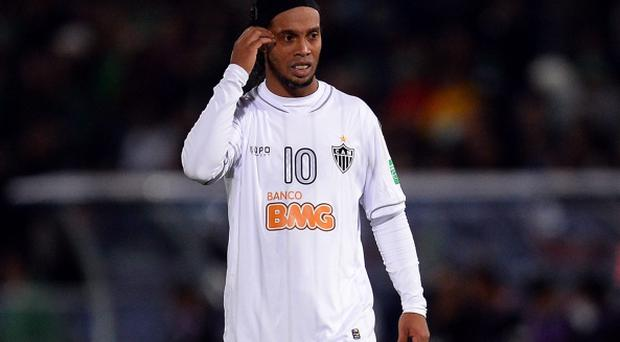 Ronaldinho of Mineiro looks dejected during the FIFA Club World Cup Semi Final match between Raja Casablanca and Atletico Mineiro