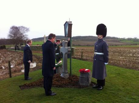 Enda Kenny and David Cameron in Belgium