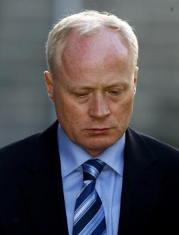 BOURKE: (DAVID); MURDER TRIAL VERDICT, CENTRAL CRIMINAL COURT, DUBLIN, (30 /3/09) PIC. SHOWS: DAVID BOURKE, (49 YRS.) OF LAVERNA DALE, CASTLEKNOCK, CO DUBLIN , WHO WAS FOUND GUILTY OF THE MURDER OF HIS WIFE, JEAN GILBERT, (46 YRS.) AT THEIR HOME ON AUGUST, 28, 2007 LEAVING COURT YESTERDAY (MON.) AFTER THE VERDICT. (PIC: COURTPIX.)