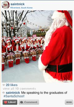 What Santa gets up to for the other 364 days of the year