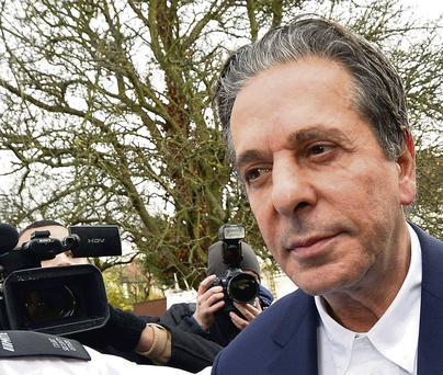 Charles Saatchi at court during the trial
