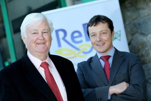 Pictured outside Balbriggan Credit Union are L-R Bobby McVeigh (Chairman-Credit Union Restructuring Board-ReBo) and Donal Coughlan ( CEO- ReBo) at the launch of the new Progessive Credit Union which is the result of a successful merger between Balbriggan, Skerries and Donabate Credit Unions