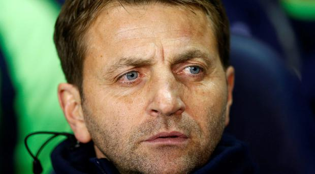 In the hot seat: Tim Sherwood takes charge of Tottenham at Southampton