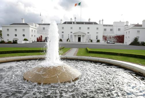 Aras An Uachtarain. Photo: Steve Humphreys