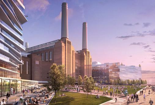 An artist's impression of Battersea Power Station redevelopment