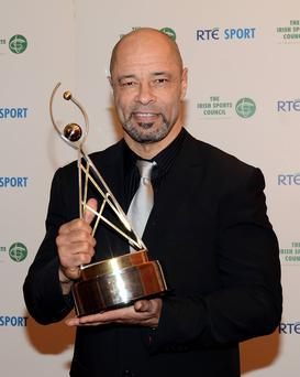 Paul McGrath pictured after he was inducted into the RTÉ Sports Awards Hall of Fame.