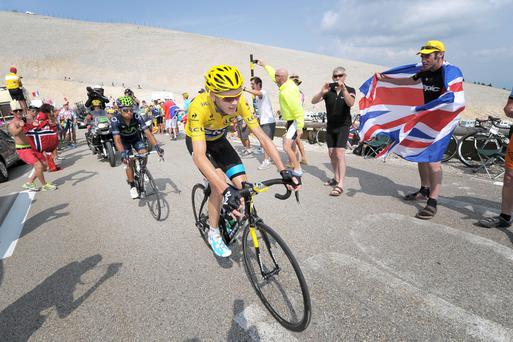 2012 Tour de France winner Chris Froome