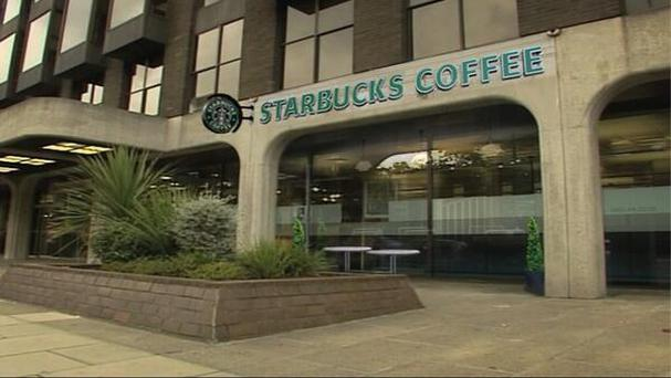 An artist's impression of the new Starbucks on the site of the old Anglo building