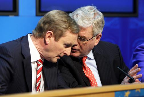 Enda Kenny and Eamon Gilmore, who seem intent on staying put in roles.