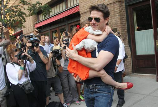 US actor Tom Cruise, pictured with his daughter Suri