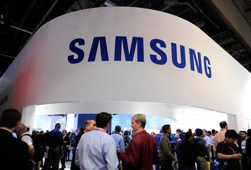 A general view of Samsung's booth at the 2013 International CES in Las Vegas, Nevada.