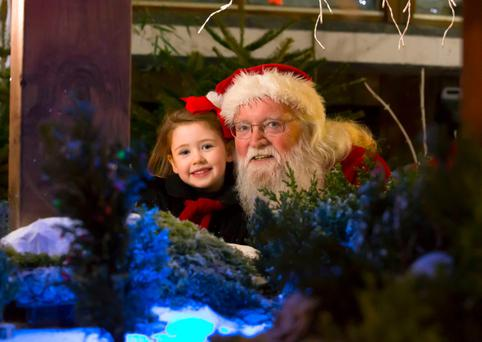 Pictured enjoying Winterval at Waterford City with Santa at Santas Courtyard Garden is Freya Doyle 5yrs of age from Waterford. Picture: Patrick Browne