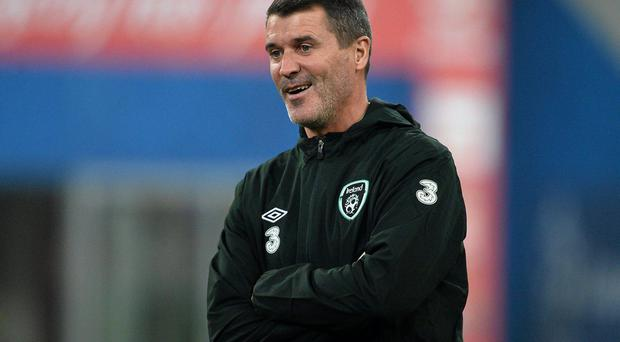 19 November 2013; Republic of Ireland assistant manager Roy Keane during the pre-match warm up. Friendly International, Poland v Republic of Ireland, Municipal Stadium, Poznan, Poland. Picture credit: David Maher / SPORTSFILE