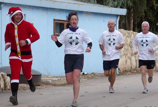 GOAL Mile in Golan Height, Syria, with the Irish peacekeeping troops