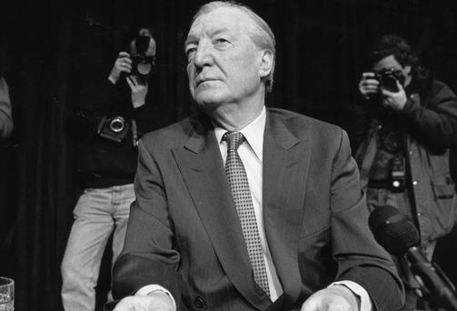 C.J. Haughey at 'Phone Tapping' press conference in 1992