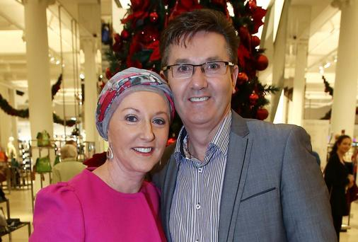 10/12/13 Daniel O'Donnell and his wife, Majella pictured at Clerys, O'Connell Street, Dublin this afternoon where he officially launched the 'The Best of Irish' designer store in the shop..Picture Colin Keegan, Collins Dublin.