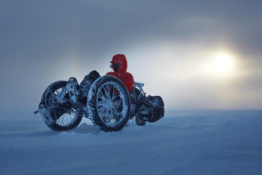 Maria Leijerstam, 35, became the first person to cycle to the South Pole from the edge of the continent in just 10 days