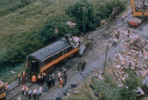 The aftermath of the Cherryville rail crash. Photo: RTE