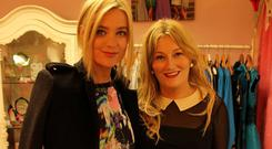 Laura Whitmore pictured with Niamh Byrne, the proprietor of Ruby Rouge in Gorey, Co Wexford