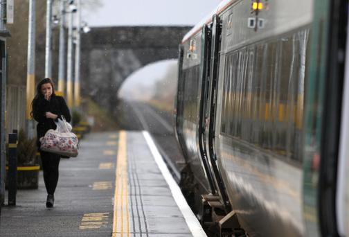 A lonely passenger at Attymon Train station, Co. Galway Photo: Hany Marzouk