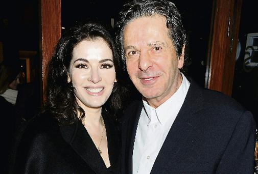 Nigella Lawson and her ex-husband Charles Saatchi