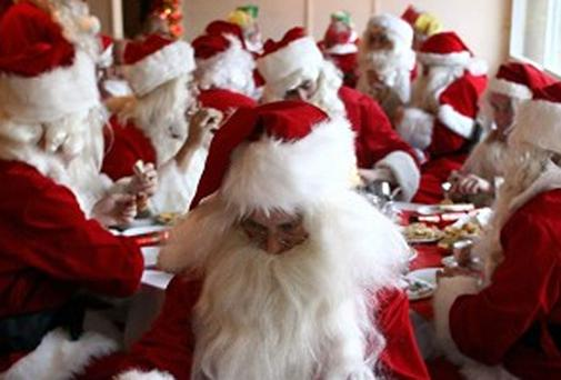 There were fears that the sight of more than one Santa Claus could traumatise children