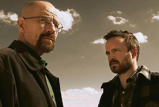 'Breaking Bad' stars Bryan Cranston and Aaron Paul.