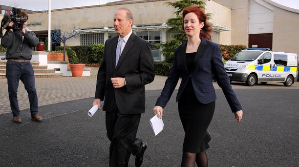 This time it was the turn of former US diplomat Richard Haass and Harvard professor Meghan O'Sullivan, pictured in Belfast on December 28