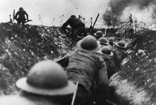 Trench warfare during the Great War