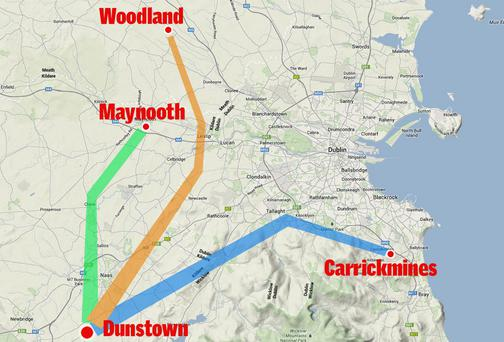 The proposed route of the pylons