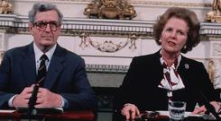 Margaret Thatcher and Garrett Fitzgerald