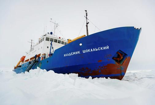 The Russian ship MV Akademik Shokalskiy