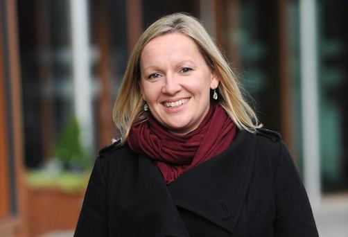 Lucinda Creighton pictured in Claremorris yesterday evening (Saturday). Photo Ray Ryan